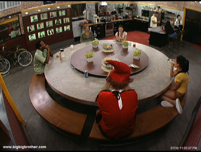 around the big brother 2011 table