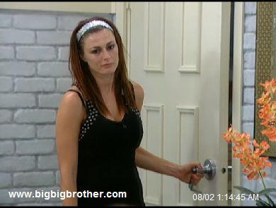 Big Brother Rachel pouts