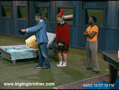big brother Jeff catches the tin-foil garter