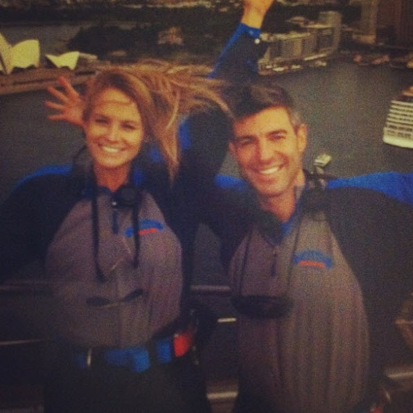 Big Brother Spoilers – Jeff and Jordan on top of Sydney Harbour Bridge