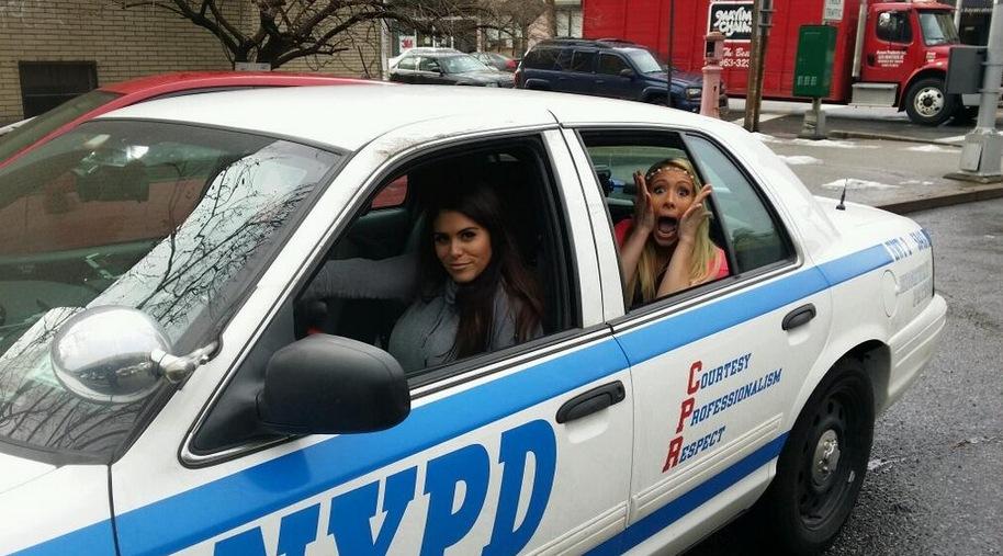 Big Brother 2014 Spoilers – Amanda Zuckerman and GinaMarie Zimmermanin cop car