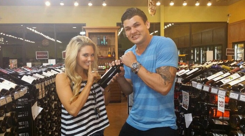 Big Brother 2014 Spoilers – Aaryn and Jeremy with wine