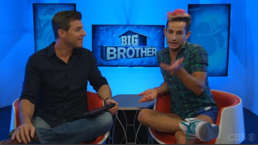 Big Brother 2014 Spoilers – Frankie Grande Eviction Interview